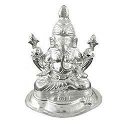 Remarkable Silver Ganesh Idol
